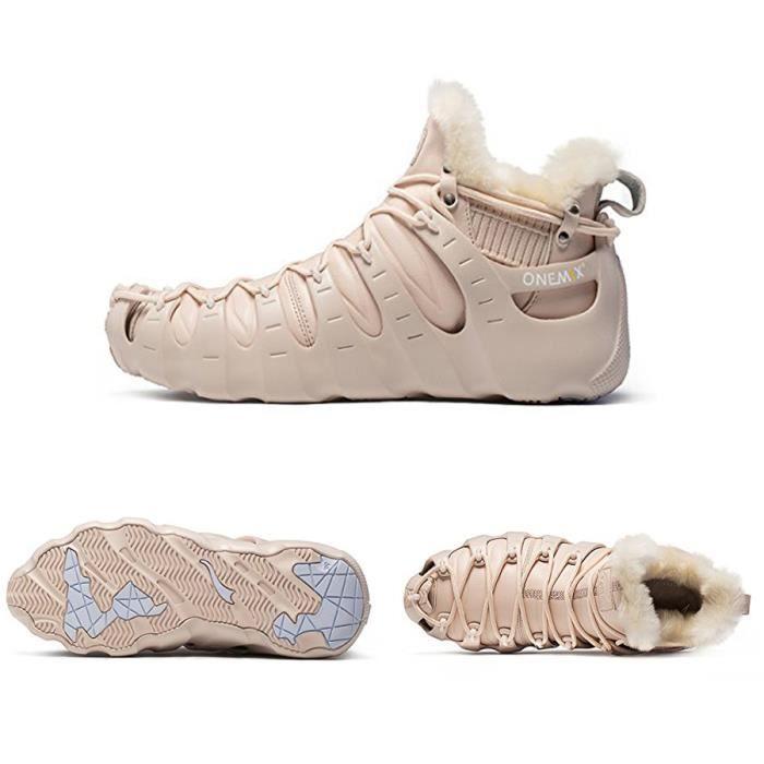 ONEMIX Hommes et Femmes Fourrure Doublée Bottes En Plein Air Trekking Sneakers Cheville Haute Hiver Chaussures H51kGFGZ0C