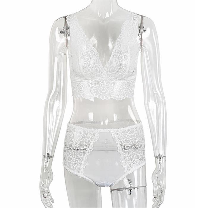 Ycc70810554 Bra Pilerty®femmes Sous Set Dentelle Lingerie Up Blanc Corset vêtements Pantalon Top Push 6PBR6