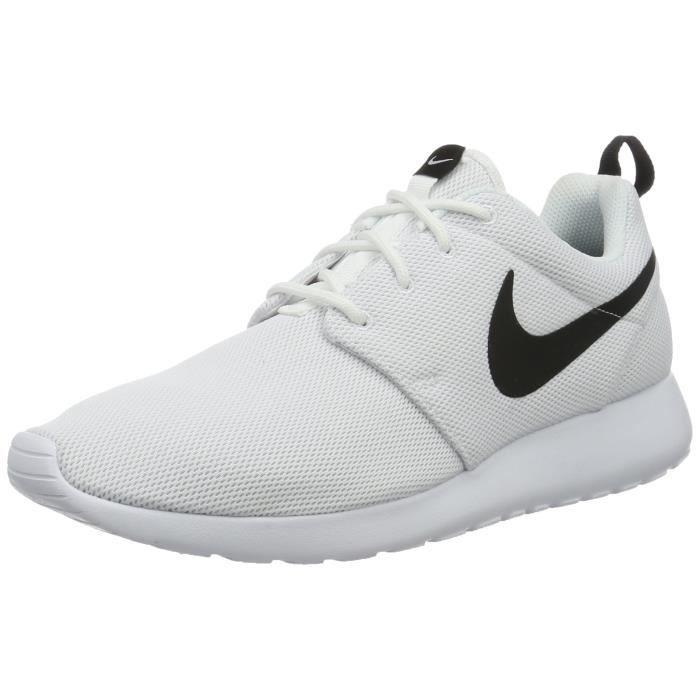 photos officielles 73418 4a021 NIKE Chaussure de course pour femme roshe one blanche - blanche - noire 11  us UQIMN Taille-M