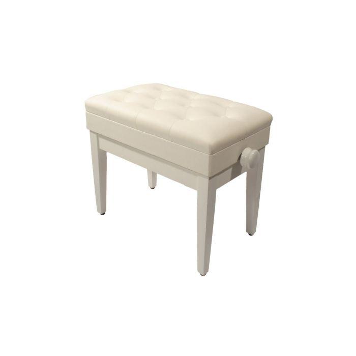 banquette pour piano pu blanc avec coffre pas cher achat vente si ge banquette cdiscount. Black Bedroom Furniture Sets. Home Design Ideas