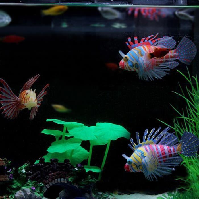 3pcs poisson artificiel flottants multicolor en silicon for Jouet aquarium poisson