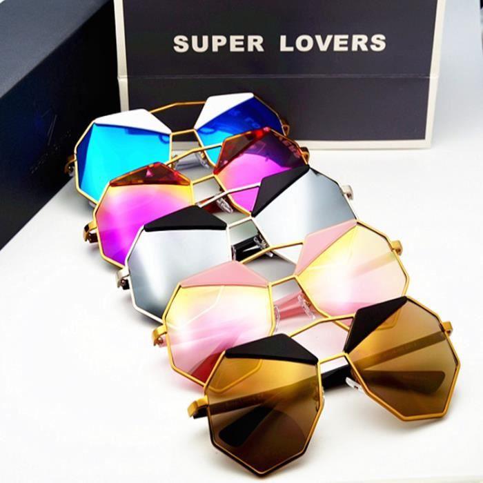 6292dea4db4c62 Super Lovers Unisexe Lunettes de Soleil protection UV Polygone Mixte Gris