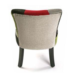 Fauteuil patchwork achat vente fauteuil patchwork pas for Chaise en tissu colore