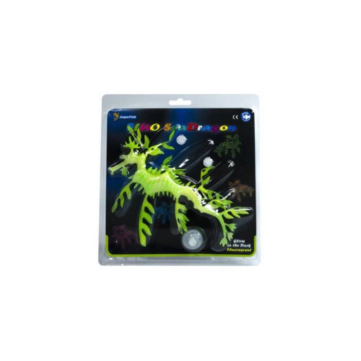 Déco artificielle déco fluo dragon vert superfish