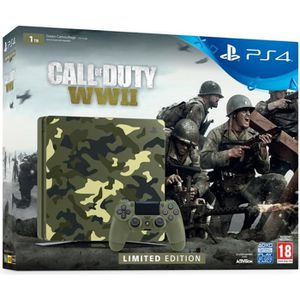 Pack Nouvelle PS4 1To Camo Design + Call of Duty World War II + Qui-es-tu ? (Jeu PlayLink ? télécharger)