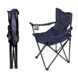 CHAISE DE CAMPING Chaises Pliantes Bleu Marine Pour Le Camping Faut