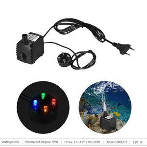 FILTRATION - POMPE 8W Pompe à eau Aquarium 600L / H submersible pour