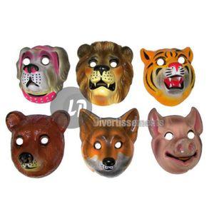 DÉGUISEMENT - PANOPLIE Masque coque lion tigre chien renard cochon