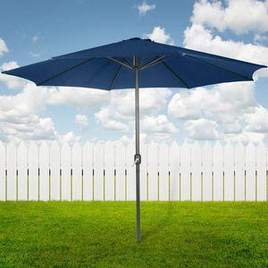 PARASOL Parasol de Jardin Imperméable avec Manivelle 3 m