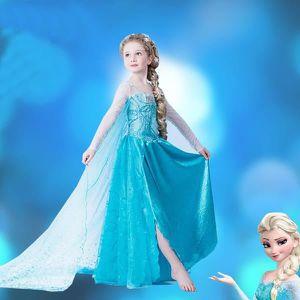 DÉGUISEMENT - PANOPLIE Enfant Robe Déguisement ELSA Princesse Avec Traîne