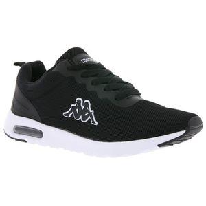 BASKET Kappa Sneaker respirant Femme Chaussures Noir
