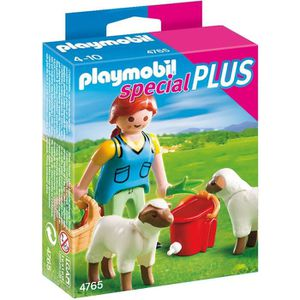 UNIVERS MINIATURE PLAYMOBIL 4765 Agricultrice avec Moutons
