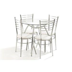 Ensemble table ronde et chaise salle a manger - Achat / Vente pas cher