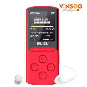 LECTEUR MP3 RECONDITIONNÉ VINSOO®rouge RUIZU X11 Lecteur Mp3 8GB Portable Su