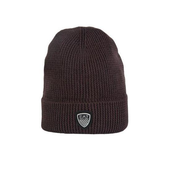 EA7 par Emporio Armani bonnet beanie bleu marine 2755164a394 gris et brun  Marron Marron - Achat   Vente bonnet - cagoule - Soldes  dès le 9 janvier ! 446575c8351