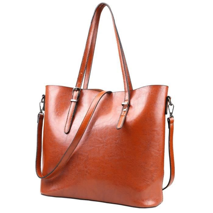 sacs en cuir sacs à main dépaule haut-poignée dames sacs fourre-tout DTHD1