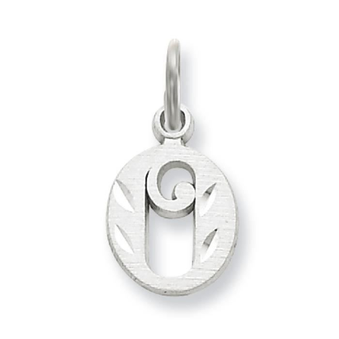 Or blanc 14 carats Diamant Coupe-initiale O