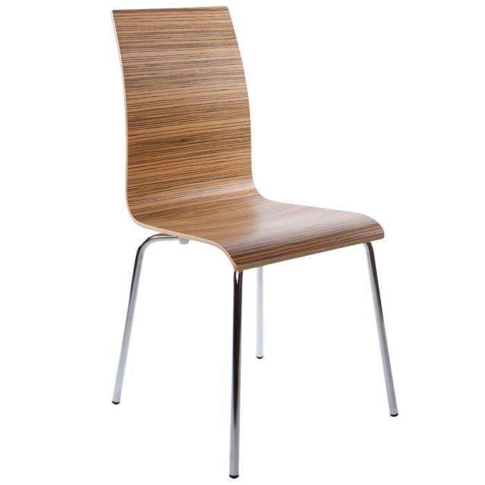 Chaise de salle à manger design modele PERA en bois. Finition ...