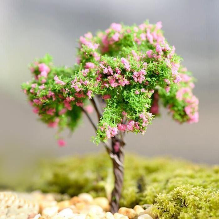 Miniature Dollhouse Fée Jardin Forêt Arbre Maison Plant Pot Décor DIY