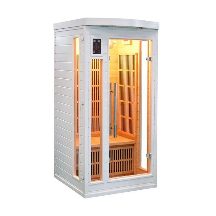 sauna 1 place achat vente sauna 1 place pas cher cdiscount. Black Bedroom Furniture Sets. Home Design Ideas