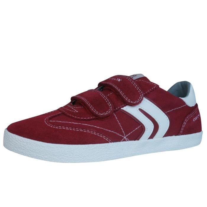 Geox J Kiwi B. M Garçons toile et Suede Sneakers.