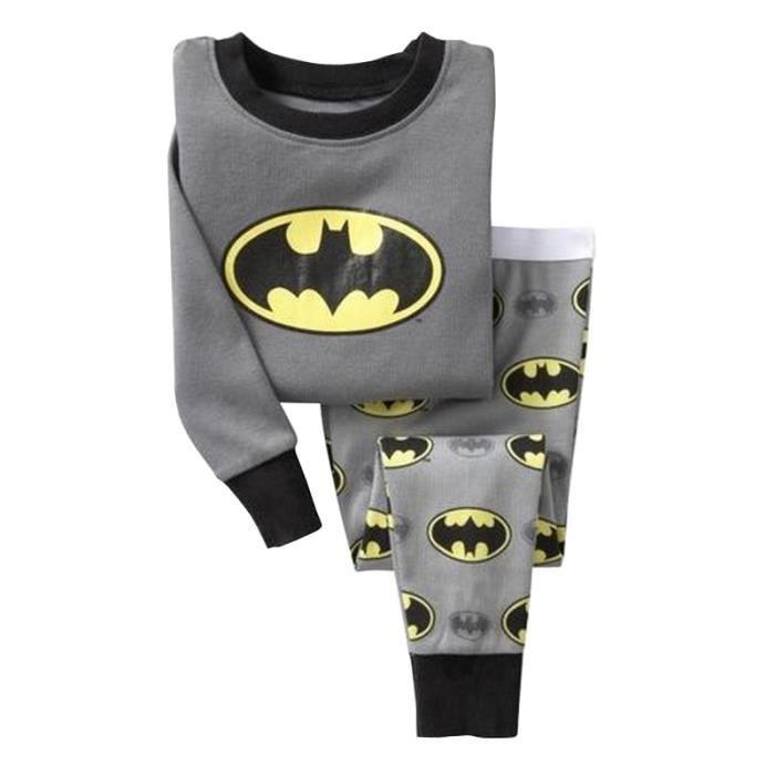PYJAMA Enfant Garçon Pyjamas 2PCS Ensemble Vêtement Batma