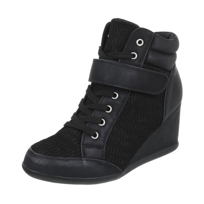 Sneakers pour femmes talon compensé | Sneaker Wedges | talon compensé chaussures | Wedge sneaker à lacets | Bottines talon compensé