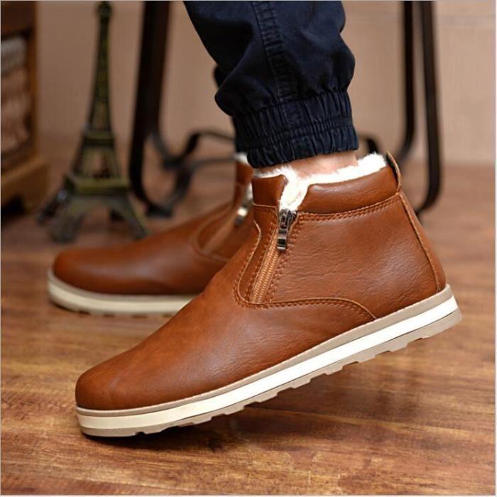 neige Chaussures en cuir Homme