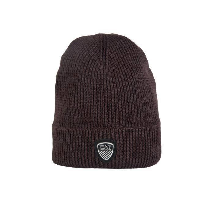 EA7 par Emporio Armani bonnet beanie bleu marine 2755164a394 gris et brun 84caf902828