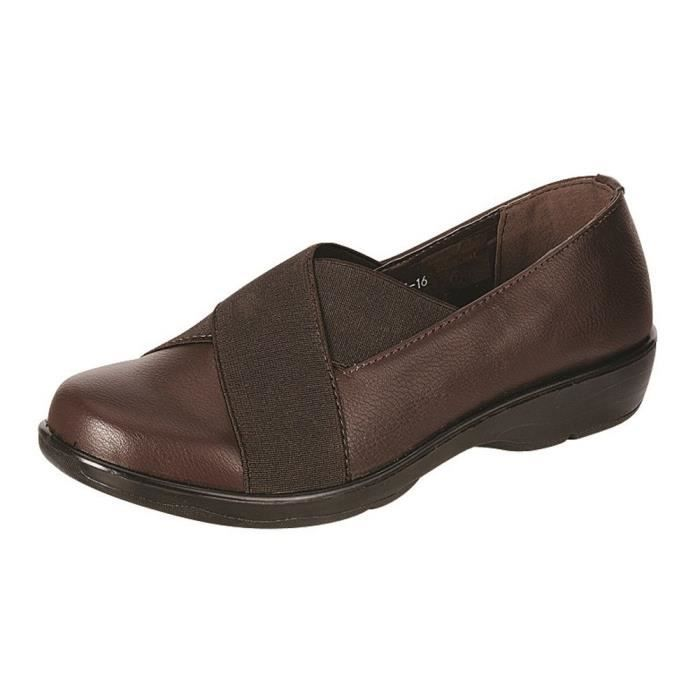 Cross Over stretch Slip-on Confort Chaussures plates BYFM0 Taille-41