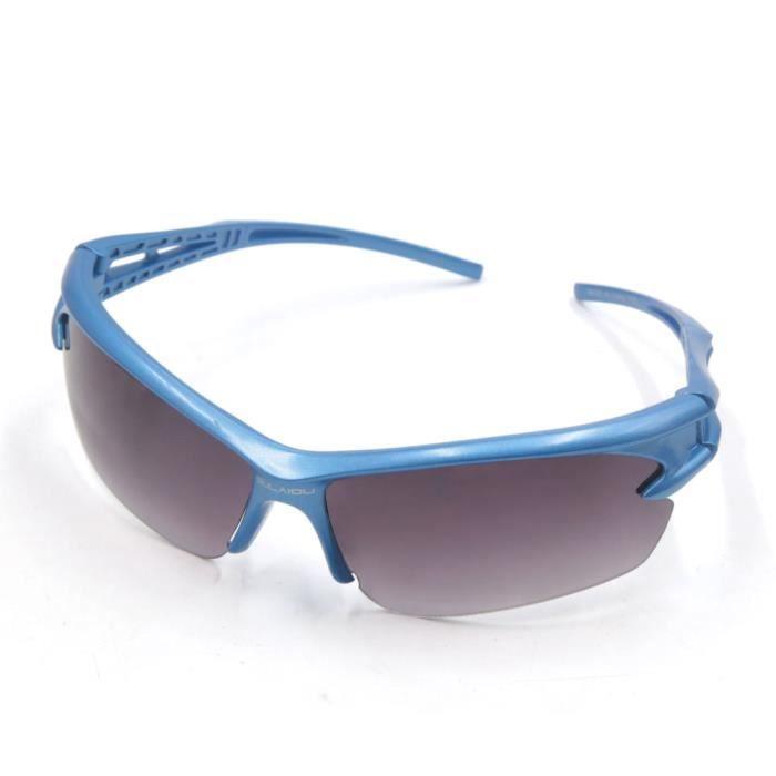 sourcing map sports plein air Randonnée Vélo Lunettes protection UV  Lentille Cadre Bleu Gris 7d0d0a24ac6f