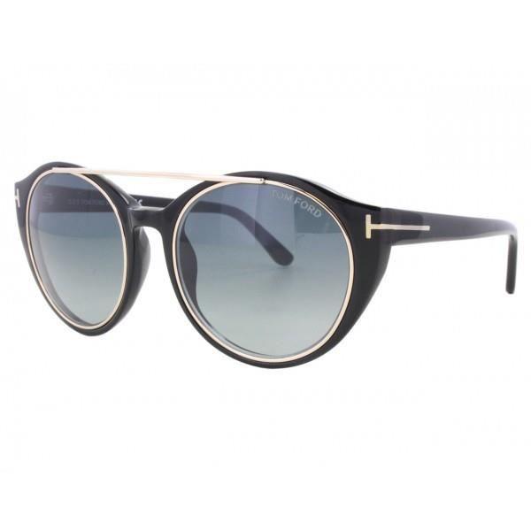e3567253b9fc88 LUNETTES DE SOLEIL Tom Ford FT0383 S-JOAN 01W. COULEUR  Monture  noir  brillant ...