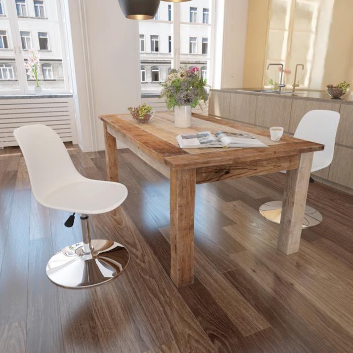 2pcs chaises de cuisine pivotantes blanc r glables en hauteur tabouret de bar bureau ou caf. Black Bedroom Furniture Sets. Home Design Ideas