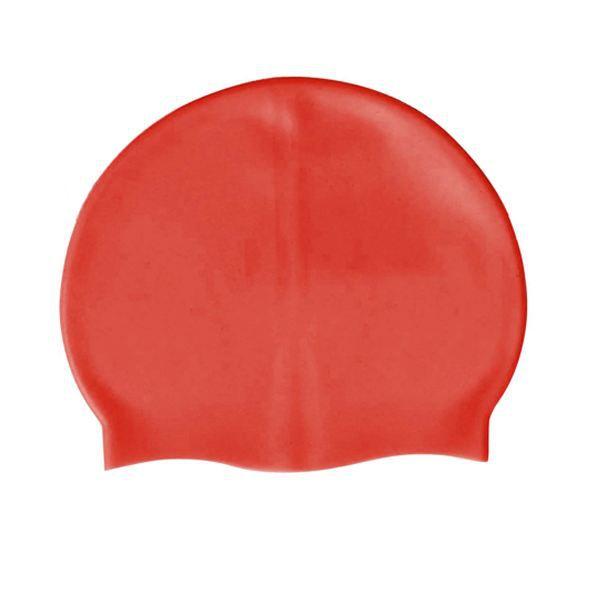 Bonnet de bain en silicone rouge de taille unique - Prix pas cher ... d4f0a0eaf65