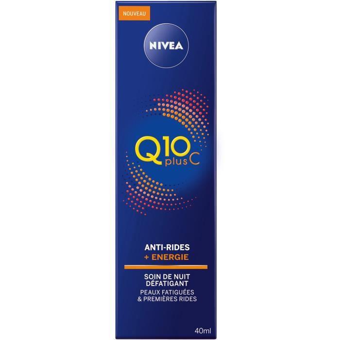 NIVEA Soin de Nuit défatiguant anti-rides + Energie Q10 et vitamine C - 40 ml