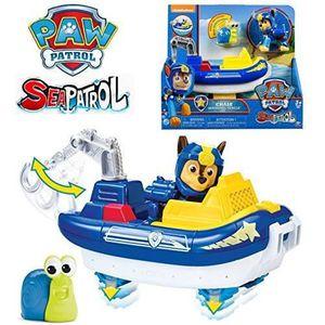d0e1bb93377a0e ... FIGURINE - PERSONNAGE Pat patrouille Chase et son véhicule sea patrol.  ‹›