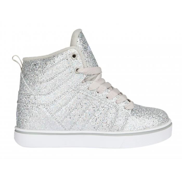 Heelys - Chaussures à Roulettes - Uptown Silver Disco Glitter-39