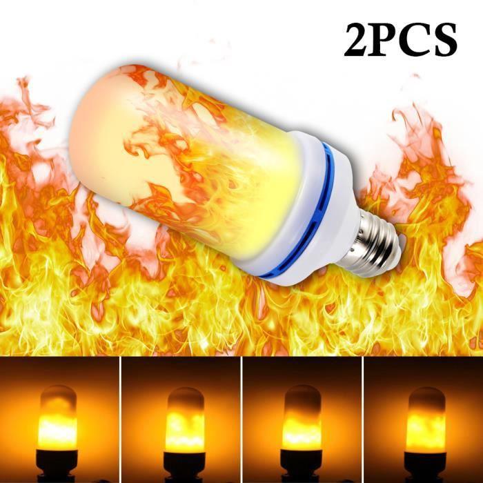 Ampoule Perles 2pcs Lumière E27 Led Base Pour Scintillement La 2835 Lampe Xcsource Décoration Décorative Flamme 5w Simulé Effet HEvwqqx