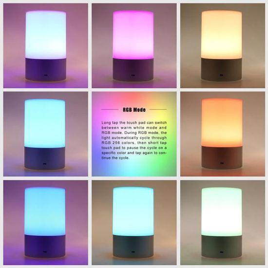 Led De Tactile Niveaux Rgb Nuit Luminosité Chevet 3w Lampe Table Rechargeable 3 À Atmosphère rdxBeCo
