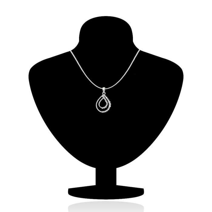 Rhodié chatoyante Double Drop Pendant Femmes Set avec Crystal pour Nl1101774rwhi Q7CC5