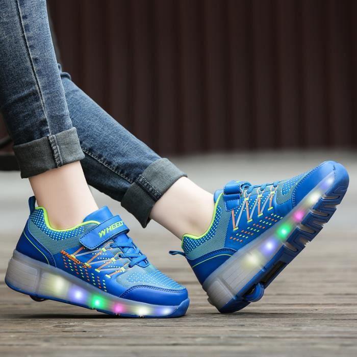 Baskets Enfants chaussures LED rouleaux roller shoes à roulettes garons filles Sneakers avec roues automatique de patinage chaussure UVfYg