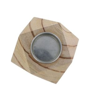 LA FOURMI Bougeoir géométrique en bois 8,3x8,3x8,3 cm