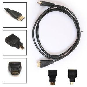 CÂBLE TV - VIDÉO - SON 0,5M 3in1 HDMI vers HDMI - Mini - Micro adaptateur