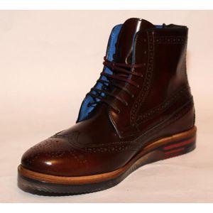 41 verges de bottes simples de noir en cuir verni chaussures Hommes mode augmenté chaussures à fond épais version coréenne de bottes QhpqqEVC