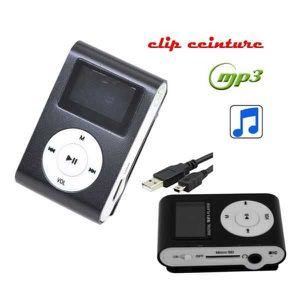 LECTEUR MP3 Lecteur Baladeur MP3 Ecran LCD NOIR (sans Carte SD