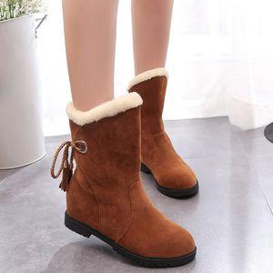 BOTTE Bottes de neige d'hiver Bottines femme Chaussures