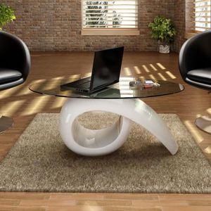 TABLE BASSE Table basse de salon scandinave 115 x 64 cm Style