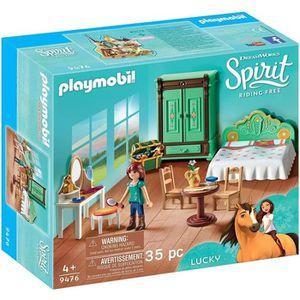 FIGURINE - PERSONNAGE PLAYMOBIL 9476 - Spirit - Chambre de Lucky - Nouve