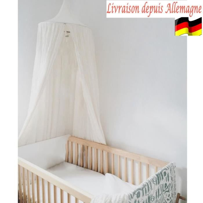 ciel de lit baldaquin moustiquaire bebe enfants protection anti