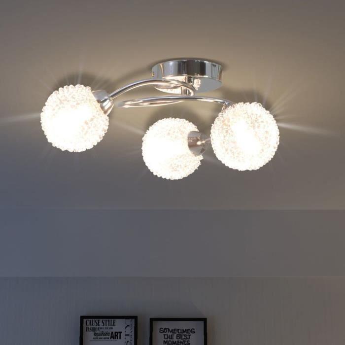 En Dans MagnifiqueAvec Trois Globes R62 Enroules Led Ce SpiraleSera Un Plafonnier De Ampoules Verre Fil Maille TJlKF1c3